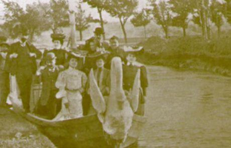 Barca en forma de cisne que recorría el Canal hasta la quinta Julieta